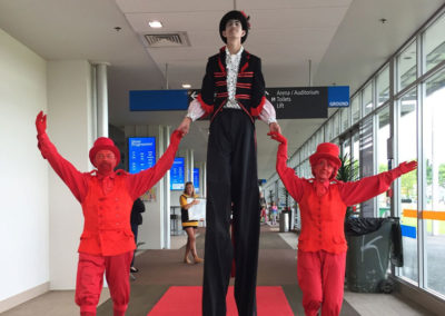 Free-lunch-red-carpet-stilt-walker